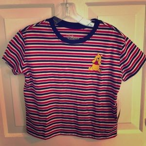 NWT Disney Winnie the Pooh striped shirt